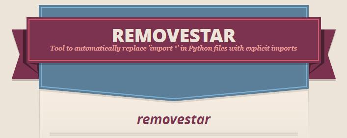 removestar page header
