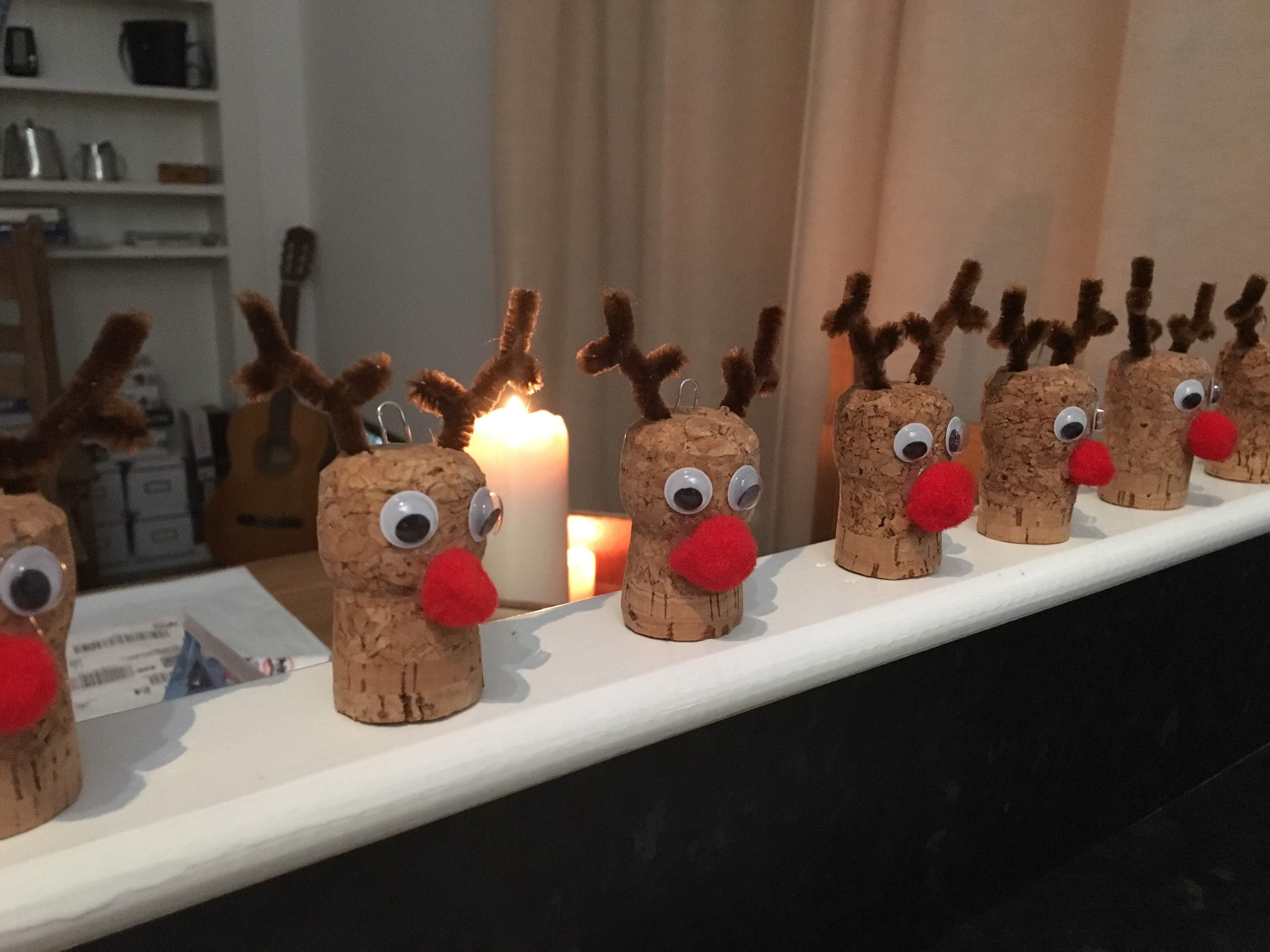 Cork Rudolph reindeers
